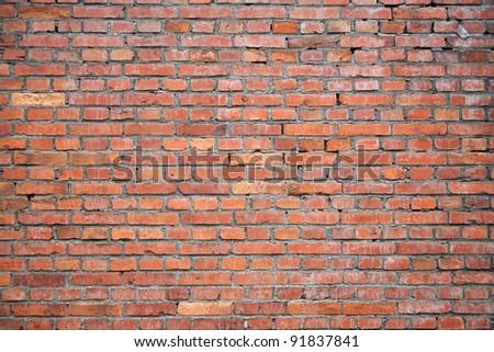 wet brick wall - stock photo