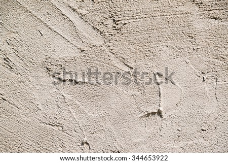 wet cement wall texture - stock photo