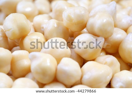 wet chick-peas - stock photo