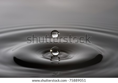 Wet drop splash - stock photo