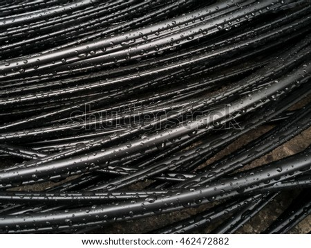 Wet fiber wire, Abstract background