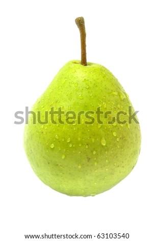 wet pear - stock photo