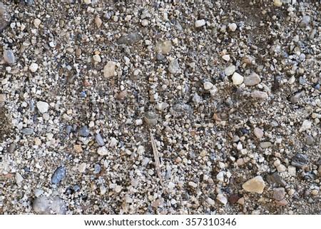 Wet sand rock background - stock photo