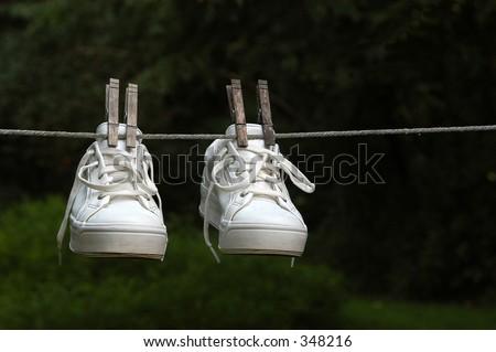 Wet Sneakers - stock photo