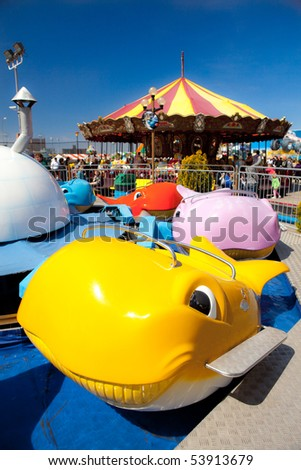 Whale car carnival ride - stock photo