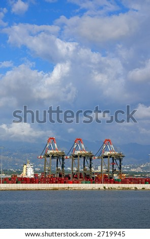 wharf - stock photo