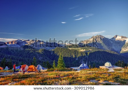 What a view to wake up to! - stock photo
