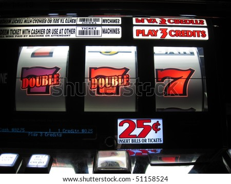 what a win on a slot machine - stock photo