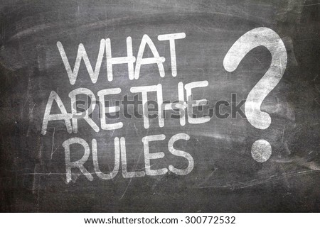 What Are The Rules? written on a chalkboard - stock photo