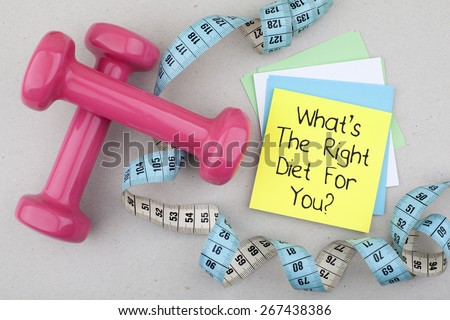 What is the right diet for you - stock photo