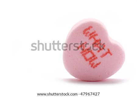 What Now - Candy Heart - stock photo