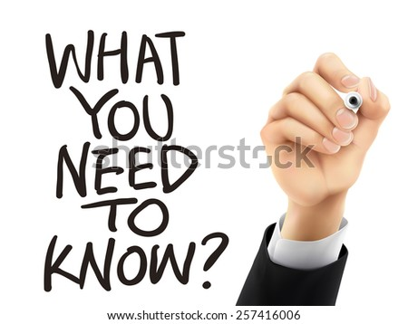 What you need to know written by hand on a transparent board - stock photo