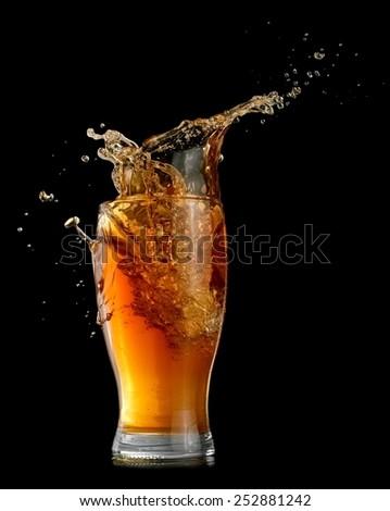 Wheat beer splash - stock photo