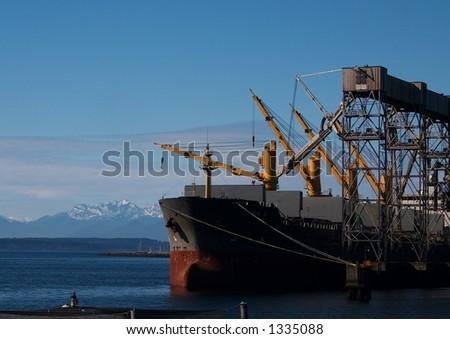 Wheat Cargo Loading - stock photo