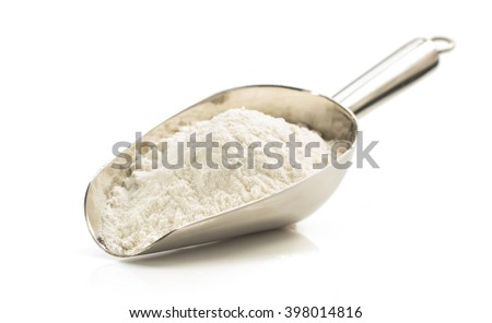 wheat flour isolated on white background - stock photo
