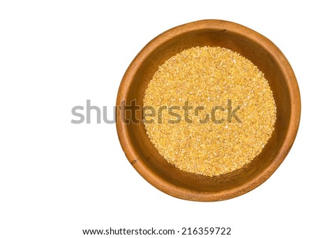 wheat grain milled ground