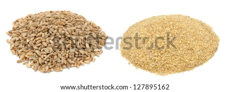Wheat grains and wheat grits