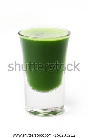 wheat grass juice - stock photo