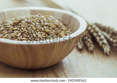 Wheat on the table - stock photo