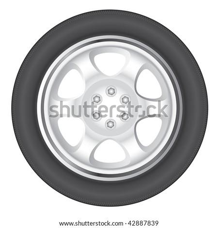 wheel car - stock photo