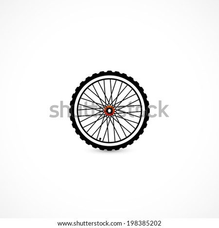 wheel icon isolated on a white background - stock photo