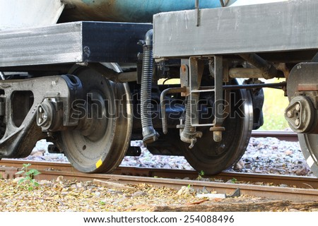 Wheel of train or railway, Suppension base of train.