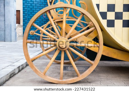 Wheel used to make the car move. - stock photo