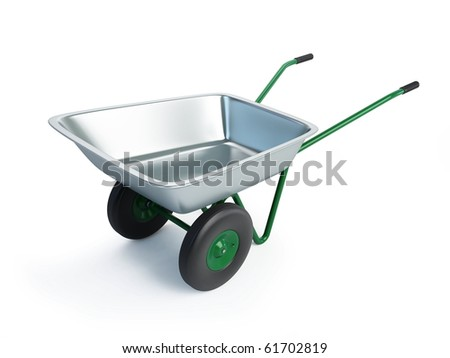 wheelbarrow isolated on a white background