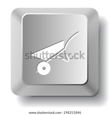 Wheelbarrow. Raster computer key. - stock photo
