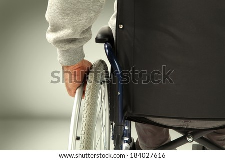 wheelchair and gray space
