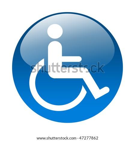 Wheelchair button - stock photo