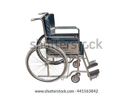 Wheelchair isolated on white background - stock photo