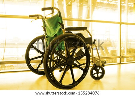 Wheelchair service  color tone technique by program - stock photo
