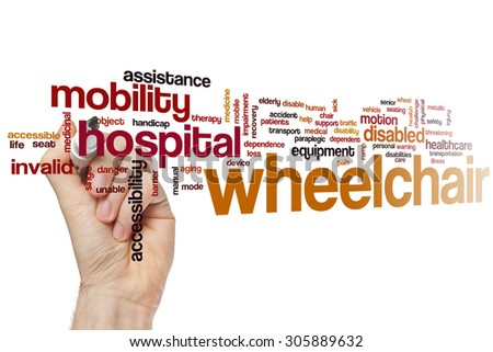 Wheelchair word cloud concept - stock photo