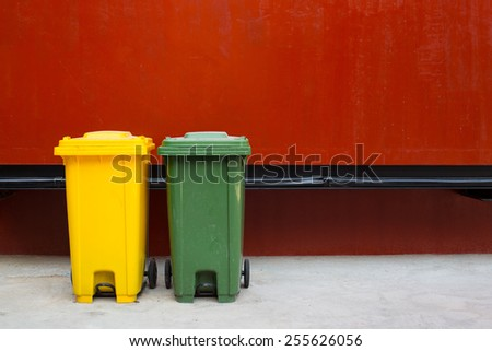 wheelie bins for rubbish, recycling and waste - stock photo