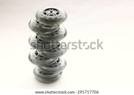 wheels for roller sports - stock photo