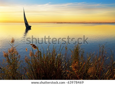 When the sun goes down - stock photo