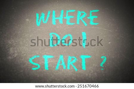 where do i start? - stock photo