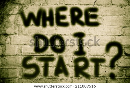 Where Do I Start Concept - stock photo