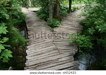 Which path to take? - stock photo