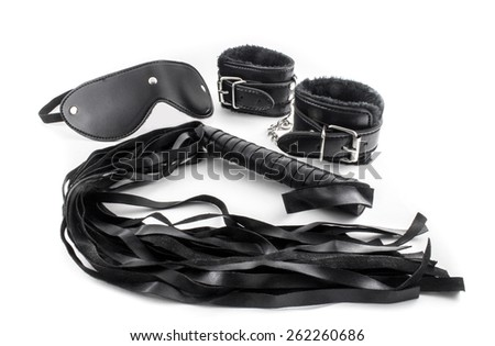 Whip, wristbands - stock photo