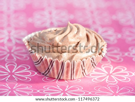 Whipped chocolate cream - stock photo