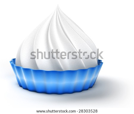 Whipped cream - stock photo