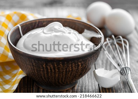 Whipped eggs - stock photo