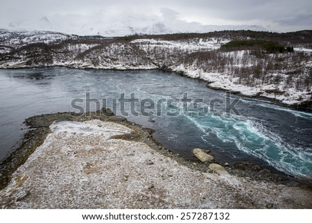 Whirlpools of the maelstrom of Saltstraumen, Nordland, Norway