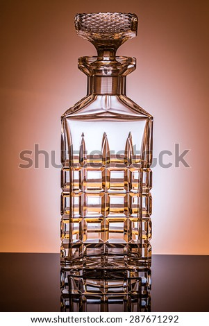 whiskey decanter - stock photo