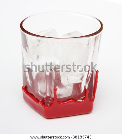 Whiskey glass - stock photo