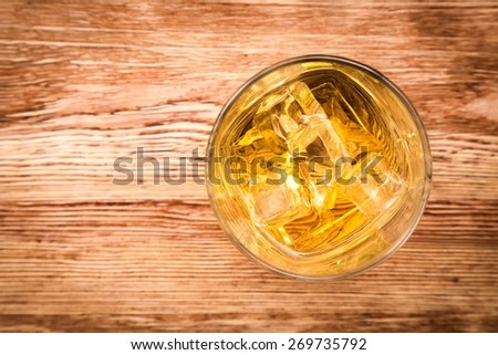 Whiskey, top, glass. - stock photo