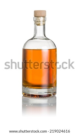 Whisky bottle on a white background - stock photo