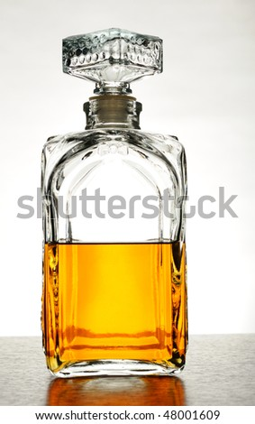 Whisky decanter - stock photo